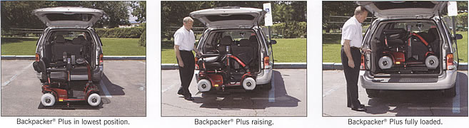 Pride Backpacker Inerior Vehicle Lift
